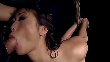 Beautiful student of the University, gets enslaved. Sharon Lee. Part 1. She blows big dick in her tight ropes.
