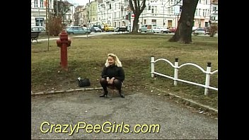 Crazy pee girl in the park sex thumbnail