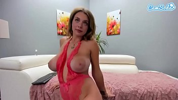 Camsoda - Gabbie Carter Big Tits Masturbates on couch
