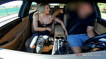 First Time Sex For MILF Anastasia Belle in her Casting video with Car Sex