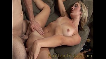 Milf blonde with shaved pussy fucking and sucking