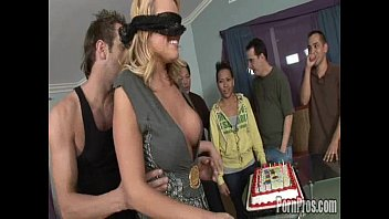 Adult broadway birthday party Big titty codi get a fat load to the face for her birthday