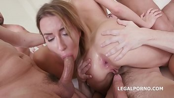 Gorgeous Girls Ria Sunn And Katrin Tequila Took Care Of Four Dicks