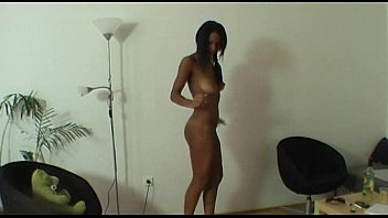 Real casting with extremely hot ebony