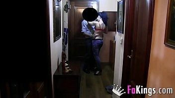 Hidden cam for the sleazy delivery boy. Today I fuck him for real!