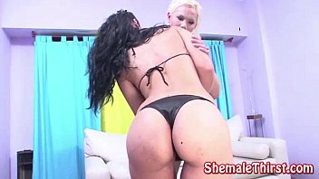 Horny girl gets shemale surprise