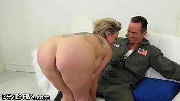 DevilsFilm MILF Squirts Gushers on Military Hubby's Cock