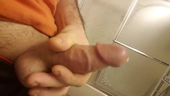 Jerking off my dick till I come.