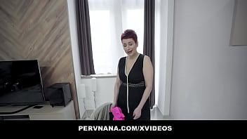 Irresistible Red Head GILF dicked by hung masseur 12 min