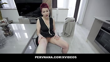 Irresistible Red Head GILF dicked by hung masseur