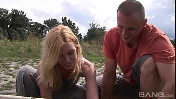 Sexy Blonde Teen Kala Ferard Fucked Outdoor