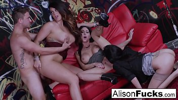 Alison Tyler goes wild in this amazing 4-way of fucking
