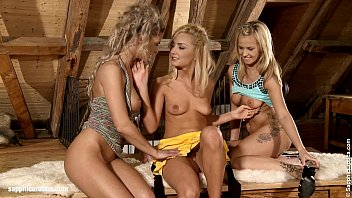 Angelic Threesome - by Sapphic Erotica lesbian sex with Ally Bellina Victoria