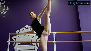 Fitness and amateur sport act Sexy amateur ballerina