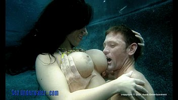 Lesbian sex underwater Pleasuring my man part 1