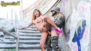 MAMACITAZ - Horny Soldier Fucks Hard His Latina Girl Under A Bridge - Venus Afrodita
