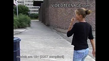 18 years old blonde teen first casting