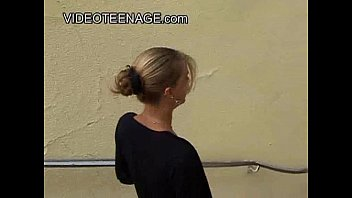 18 years old blonde teen first casting thumbnail