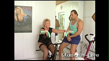 Unbelievable, Grandma fucks with the fitness instructor