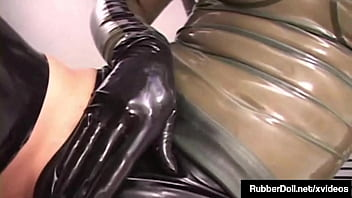 Hot! RubberDoll And January Seraph Are Latex Lovers Rubbing Wet Pussy!