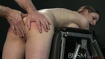 YouPorn - BDSM XXX Young big breasted sub gets hard anal from her Master