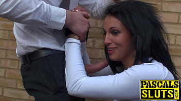 Inked sub Louise Kay ripped and penetrated in backyard