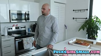 FULL SCENE on http://FucksGirlSmall.com - Sexy blonde braceface Khloe Kapri can't seem to keep her hands off of other people's stuff! Our stud keeps finding the bratty babe snooping around his house