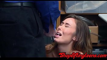 Asian teen gets facial and fucks after shoplifting in hd
