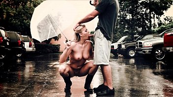 BANGBROS - Busty Blonde Babe Lexi Davis Sucking Dick In The Rain