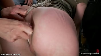 Slut anal fucked and fisted in public