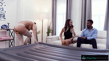 Husband Joins Wife in Sexy Nuru Massage After He Watches 12 min