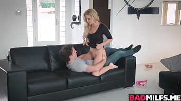 Horny mom Cherrie seduces and fucks with Karters bf