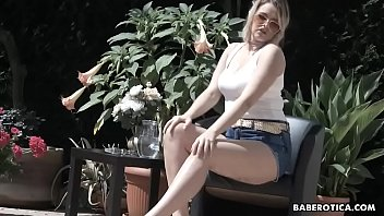 Solo blonde cock teaser, Nikky Dream is masturbating in 4K