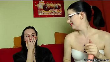Lesbians fondling on private webcam show