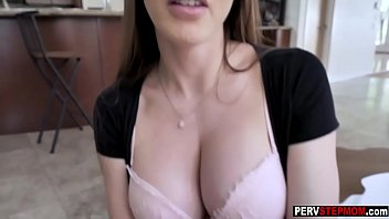 Nasty busty MILF stepmom gave a stepson a welcome gift