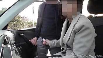 Dogging my slut wife in public car parking and masturbation and sucking a stranger after work She risks getting caught by near people
