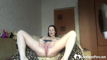 Desirable stepsister shows off her solo skills