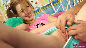 TeenyPlayground Sweet teen Alexis Crystal takes a load of cum on her tits