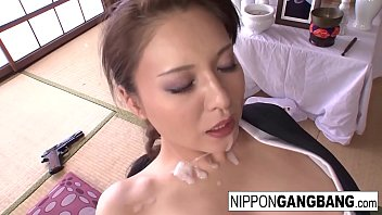 Japanese hottie gets gangbanged in her dojo - 69VClub.Com