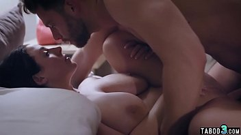 Chubby MILF housewife riding on her husbands big cock