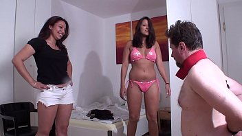 Young Femdom Face Slapping Slaves
