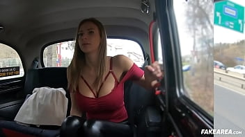 Russian Milf With Massive Tits Gets Horny in a Fake Taxi