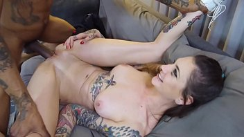 Tattoo Babe gets Fucked Rough By HUGE BBC