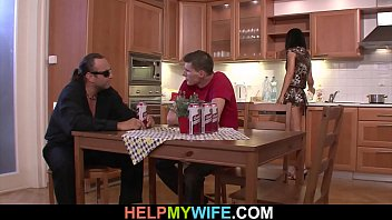 Husbands friend pleases his young wife