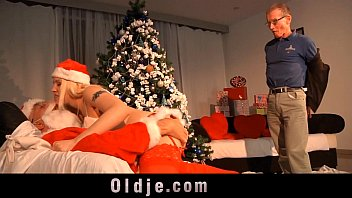 Older men and teen and spank Old santa punishes a nasty girl