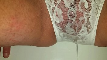 I pissed my white panties Pissing my lacy white panties