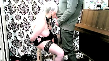 My wife is my whore! I do what I want with my mature slave! Suck, bitch! Hands behind your back!