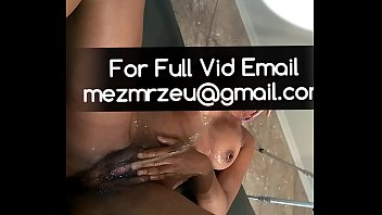 Ebony Slut Deepthroating Fingers Pissing in Throat