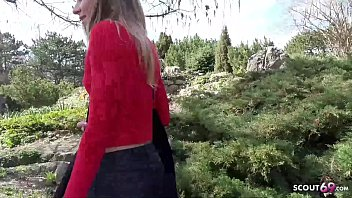 GERMAN SCOUT - Skinny College Teen Emily Seduce to Fuck 13 min