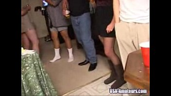 Cheating wife gangbanged at party video Amateur american cuckold wife gets gangbanged at private party by husbands friends